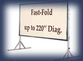 Da lite fast fold screen, flat screen monitors for stage scenery rentals